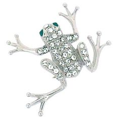 Brooches Store Swarovski Crystal Frog Brooch >>> Click image for more details. (This is an affiliate link) #BroochesandPins