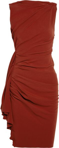 Love this dress minus the sash at the hip. In a dark red, simple and elegant drape. Lanvin Draped Crepe Dress
