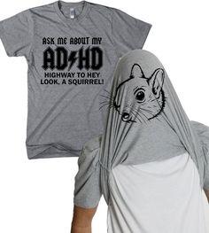 ADHD Flip shirt funny squirrel flip t shirt S-4XL on Etsy, $16.99
