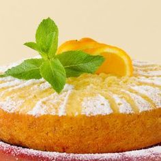 Orange Olive Oil Cake, A Food, Food And Drink, Greek Sweets, Sweets Cake, Orange Recipes, Cake Tins, Greek Recipes, Food Processor Recipes