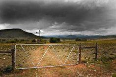 The farm gate.