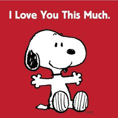 'I Love You This Much', Snoopy.