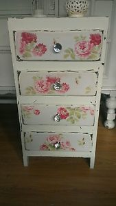 shabby chic roses drawers