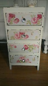 shabby chic roses drawers