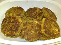 Annelis Vegetariska LCHF: Panerade Broccolibiffar