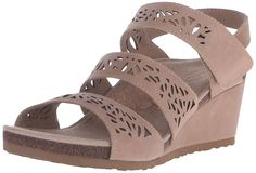 Aetrex Women's Lexi Laser Trip Strp Wdge Sndl Wedge Sandal * Find out more details by clicking the image : Wedge sandals