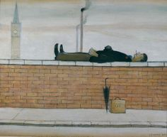 L.S. Lowry, Man Lying on a Wall, 1957 (The Lowry Collection, Salford ©The Estate of L.S. Lowry)