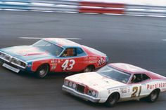 Most Iconic Cars in NASCAR History Richard Petty 43 & David Pearson 21