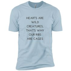 Hearts Are Wild Creatures Boys' Cotton T-Shirt – Rebel Style Shop