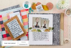 Sneak Peek at @studio_calico 's January Scrapbook Kit, Far Far Away!