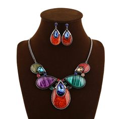Wholesale luxury fashion vintage statement jewelry sets