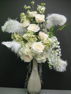 Great Gatsby/ Old Hollywood/ Glamor Wedding or grand room centerpiece- By Christina Villasenor  3049