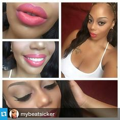 BUZZ WORTHY / TEXAS  Makeup Artist Shakila is wearing Lipstick Colour: HIP HOP accented for Umbre look . Available at www.takiemoto.com