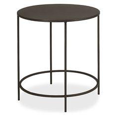 Slim Round End Tables in Natural Steel - Modern End Tables - Modern Living Room Furniture - Room & Board