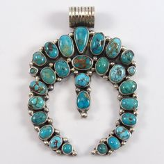 Royston Turquoise Naja Pendant – Garland's Indian Jewelry