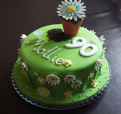 Garden themed cake Frosting, Icing, Chocolate Stout, Celebration Cakes, Themed Cakes, Touch, Cream, Fruit, Luxury