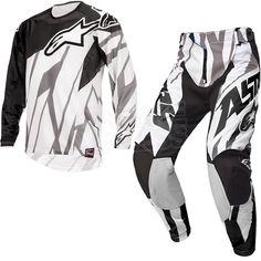 2015 Alpinestars Techstar Kit Combo - Black White Grey