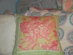 Green+salmon+stripe+cotton+pillow+covers+STRIPE+by+IlNostroNido,+$30.00