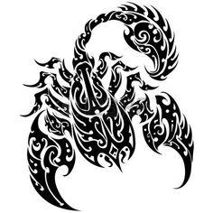 escorpio: Tatuaje del escorpión en un fondo aislado Vector abstracta Ilustración…