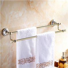 Moderne Accessoires de salle de bain Ti-PVD Porte-serviettes en laiton