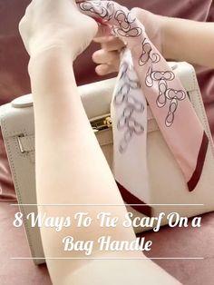 Ways To Tie Scarves, Ways To Wear A Scarf, How To Wear Scarves, Scarf Wearing Styles, Scarf Styles, Scarf On Bag, Diy Fashion Hacks, Fashion Tips, Scarf Knots