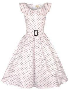 Lindy Bop 'Hetty' Polka Dot Bow Shawl Collar Vintage 1950's Rockabilly Swing Party Dress (S, White) Lindy Bop,http://www.amazon.com/dp/B00BCK0VOC/ref=cm_sw_r_pi_dp_2XiWrb22E83F43A6