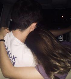 Girlfriend hugging her boyfriend