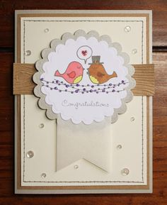 Tania's Paper Trails: Barn-Themed Wedding Card