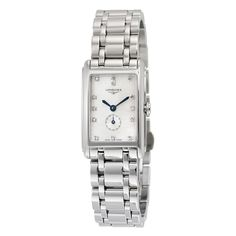 Longines Dolce Vita Mother of Pearl Dial Ladies Watch - Dolcevita - Longines - Watches - Jomashop Stainless Steel Watch, Stainless Steel Bracelet, Cool Watches, Watches For Men, Wrist Watches, Blue Sword, Online Watch Store, Square Watch, Luxury Watches