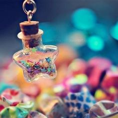 Shining star by EliseEnchanted on DeviantArt Miniature Photography, Cute Photography, Bottle Charms, Bottle Necklace, Cute Images For Dp, Beautiful Nature Wallpaper, Glitter Stars, Shining Star, Twinkle Twinkle Little Star