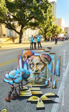 Via Colori Houston.  Work by CarlosAlberto_GH, Ruben Poncia & Adry del Rocío #streetart #3D