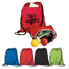 $3.59/Each Promotional Cinch-Up Backpack Cooler Drawstring Backpack Cooler | Advertising Cooler Bags | Customized Cooler Bags