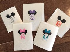 Going to Disney and want your stuff to stand out? Look no further...these decals can be done with basically any character and monogram and make