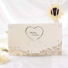 Invitación de la boda del diseño del corazón Classic (juego de 50) – EUR € 27.26