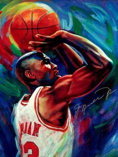 Michael Jordan Chicago Bulls NBA Basketball Quality Print Wall Poster 24X32…