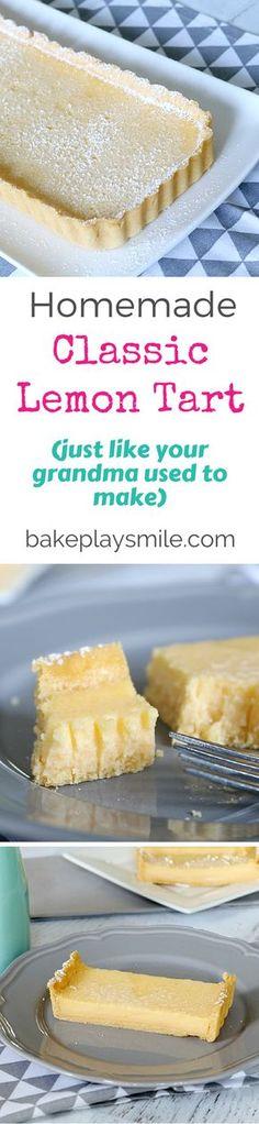 Classic Lemon Tart - Conventional Method