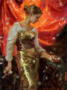 Daniel F Gerhartz Painting Russian Painting, Russian Art, Painting Of Girl, Figure Painting, Painting Gallery, Art Gallery, Portraits Pastel, L'art Du Portrait, Photo D Art