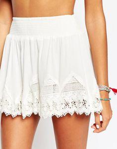 Изображение 3 из Пляжная юбка мини со вставкой кроше Surf Gypsy