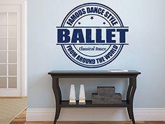 Wall Decals Quote Famous Dance Style Ballet Decal Vinyl Sticker Dance Studio…