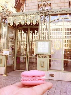 Laduree on Champs Elysees: my favorite place in the world. To be here in my SJP shoes, a dream come true.