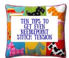 how to get even needlepoint stitch tension