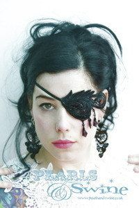 Hey, I found this really awesome Etsy listing at http://www.etsy.com/listing/159409294/black-lace-eye-patch-goth-punk-fetish