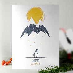 letterpress christmas cards (100% cotton / Hand pressed) from kikisoso studio