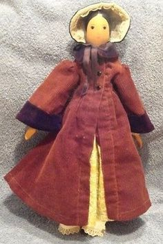 Here for your consideration is this Polly Shorrock Doll by Alice Wainwright. Condition: Excellent Original Clothes Complete Outfit Signed This is the only one I have found in this condition wit a. Wooden Figurines, Wooden Dolls, Clothespin Dolls, Complete Outfits, Little Ones, Doll Clothes, Alice, Crafts, Manualidades