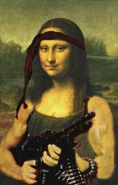More and more evidence have been found. Le Sourire De Mona Lisa, Funny Art, Funny Memes, Mona Friends, Ww2 Propaganda Posters, Mona Lisa Smile, La Madone, Mona Lisa Parody, American Gothic