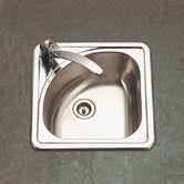 "Found it at Wayfair - Hospitality 15"" x 15"" Topmount Corner Bar Sink"