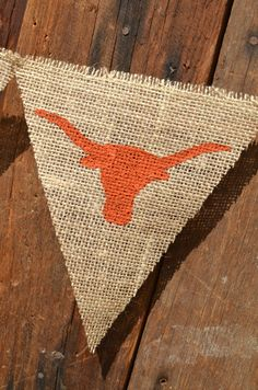 Longhorn Pennant Banner for University of Texas by LylaDee on Etsy