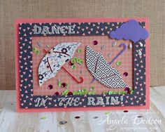 An exciting shaker card using the Simply Creative So Chic papers by design member, Angela