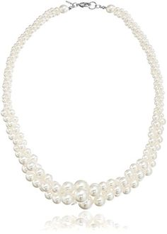 Three-Strand Simulated Pearl Necklace, 18""