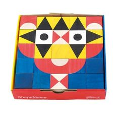 ShapeMaker Wood Block Set. MillerGoodman's award-winning wood block toys stimulate creativity and logical thinking in both parents and children. The 25 colorfully painted wood blocks can be used to create thousands of different designs.